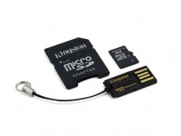 Kingston 8GB Micro SDHC Card + Adapter + USB Reader [MBLY4G2/8GB]